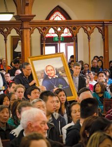 At the Mass at St Patrick's Cathedral, Auckland, blessing of the portrait of Mother Suzanne Aubert