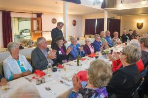 Greymouth parish priest Fr Peter Costello has amused guests at the sesquicentennial banquet on November 21.